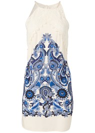 Alternate View Printed Lace Dress
