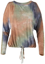 Alternate View Cold Shoulder Tie Dye Top