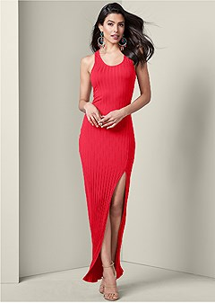 ribbed maxi dress