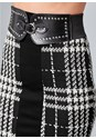Alternate View Houndstooth Belted Skirt