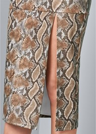 Alternate View Faux Leather Print Skirt