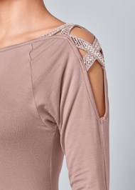 Alternate View Embellished Shoulder Top