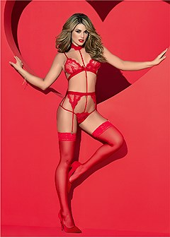 ad5f78063 sheer lace strappy teddy