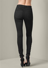 Back View Bum Lifter Lattice Jeans
