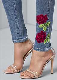 Alternate View Rose Embroidered Jeans