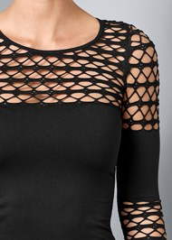 Alternate View Seamless Stretch Fitted Cut Out Top