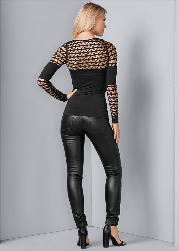 Back View Seamless Fitted Cut Out Top