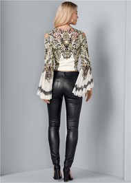 Back View Embellished Bell Sleeve Top