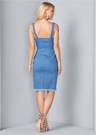 Back View Denim Dress