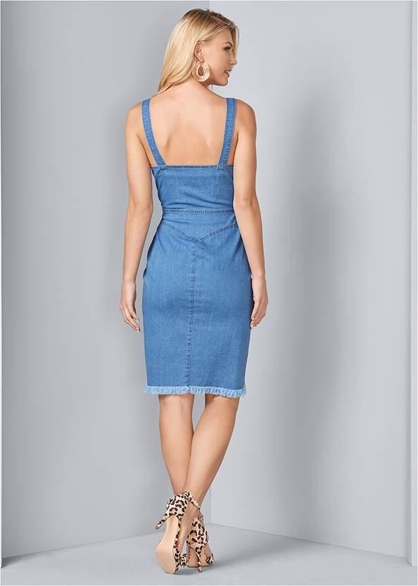 Back View Denim Dress