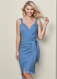 Front View Denim Dress