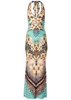 plus size printed maxi dress