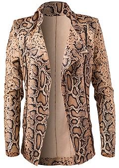 plus size snake print jacket