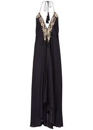 Alternate View Embellished Trim Maxi Dress
