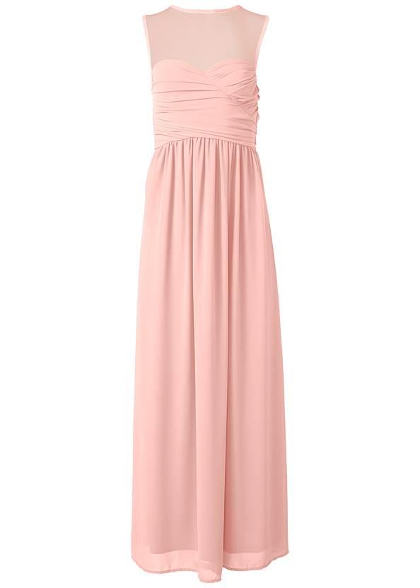 Alternate View Mesh Sweetheart Long Dress