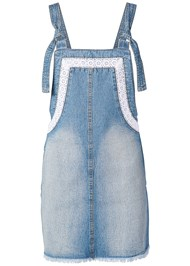 Alternate View Lace Trim Denim Dress