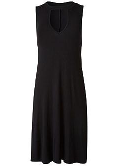 plus size pocket detail casual dress