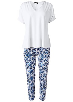 plus size sleep pants set