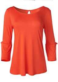 Front View Slit Sleeve Top