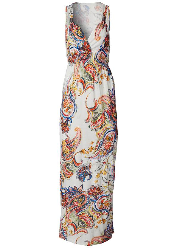 Alternate View Paisley Print Maxi Dress