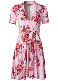 Alternate View Surplice Floral Dress