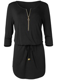 Alternate View Zip Detail Casual Dress