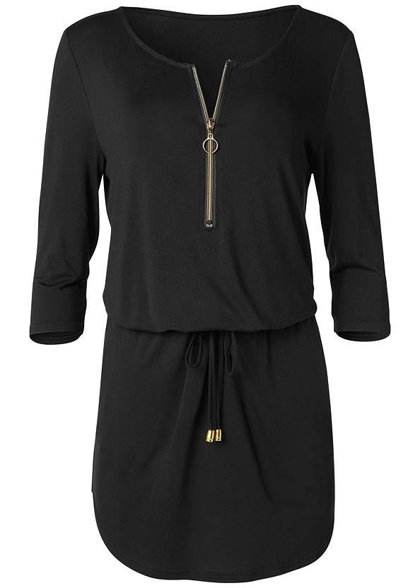 Alternate View Zip Detail Casual Dress