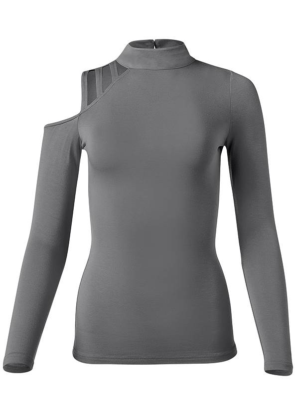Alternate View Cold Shoulder Strappy Top