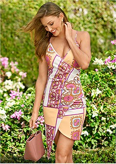 36d60774fad faux wrap print dress