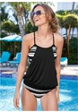 Front View Layered Blouson Tankini Top