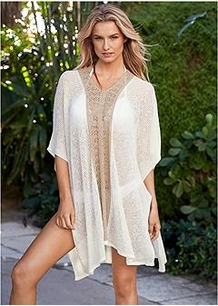 crochet caftan cover-up