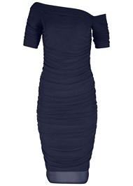 Alternate View Ruched Mesh Bodycon Dress
