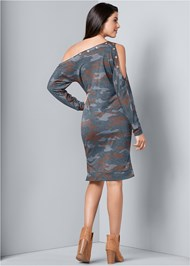 Back View Camo Lounge Dress