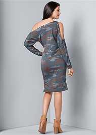 Back View Camo Lounge Dress