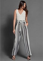 stripe detail jumpsuit