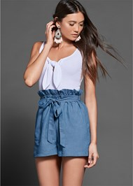 Front View Paperbag Detail Romper
