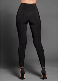 Alternate View Lace Trim Leggings