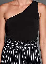 Alternate View Paperbag Stripe Jumpsuit