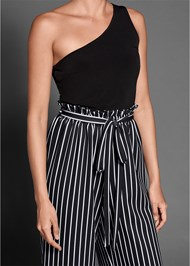 Alternate View Paperbag Stripe Jumpsuit