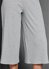 Alternate View Ribbed Culotte Jumpsuit
