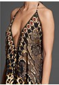 Detail  view Animal Print Maxi Dress
