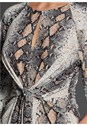 Alternate View Tie Front Python Print Top