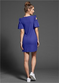 Alternate View Ruffle Detail Ribbed Dress