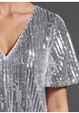 Alternate View Sequins Shirt Dress