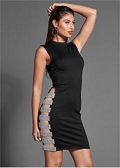 rhinestone detail dress