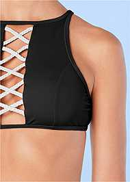 Alternate View Braided High Neck Top