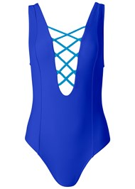 Alternate View Braided Lace Up One-Piece
