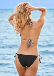 Back View Braided Triangle Bikini Top