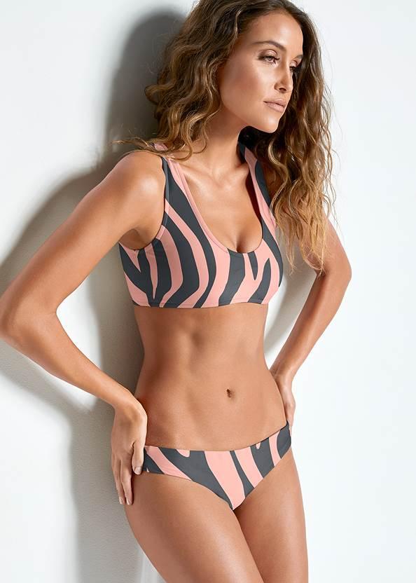 Versatility By Venus ™ Two In One Bikini Top,Braided String Side Bottom,Goddess Low Rise Bottom