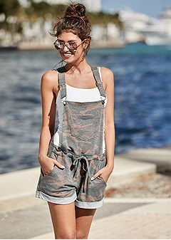 french terry shorts overall